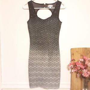 Gorgeous Sparkling Gray & Black Dress
